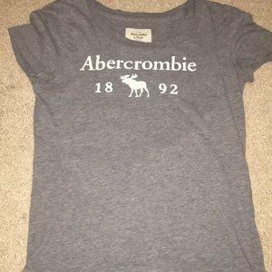 a&f gray t shirt